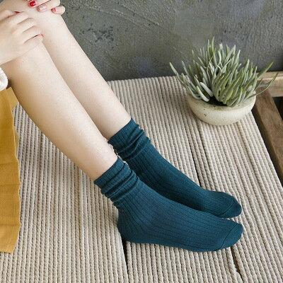 網紅款堆堆襪女日系秋冬襪子純棉款女士襪子純色學院風百搭中筒襪 7