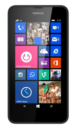 Nokia Lumia 635 8GB AT & T Unlocked GSM 4G LTE Windows 8.1 Quad-Core Phone - Black Ref