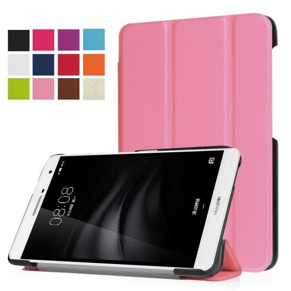 【預購】華為 T2 Pro 7.0 (M2青春版) 卡斯特三折平板皮套 Huawei T2 Pro 三折平板支架皮套 平板皮套
