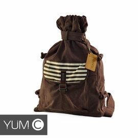 【美國Y.U.M.C. Melrose休閒系列Veshmeshok Rucksack 帆布束口袋後背包 栗色】電腦包/雙肩包 【風雅小舖】