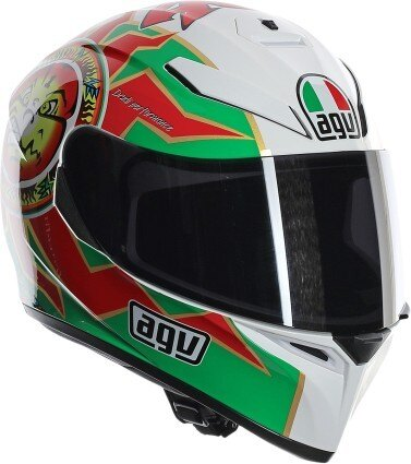 AGV K3 SV Rossi Imola Full Face Helmet Green/White/Red MD/LG b9486a7793258595d046b48ea8cc9ca1