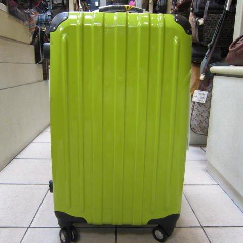 ~雪黛屋~18NINO81美國24吋ABS+PC硬殼拉桿行李箱 8大超大加寬輪設計360度旋轉輪#2028 蘋果綠