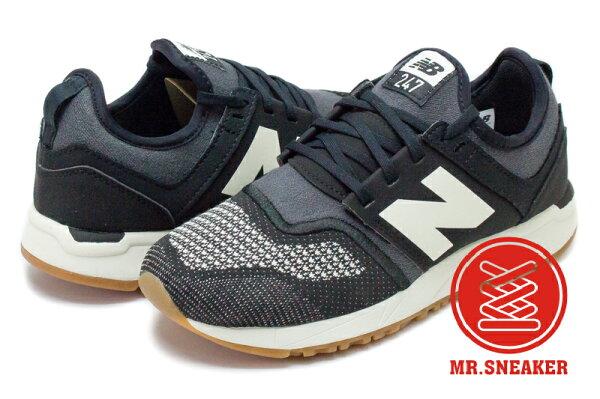 ☆Mr.Sneaker☆NEWBALANCE247襪套雪花針織編織混織WRL247TE黑灰女版