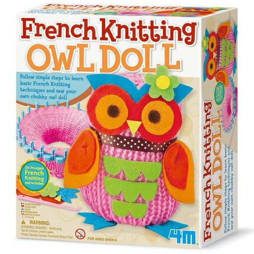 ~4M  DIY~French Knitting Owl Doll貓頭鷹娃娃