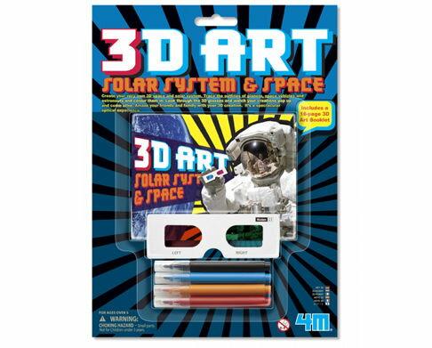 【4M 創意 DIY】3D Art Solar System&Space 3D立體太空畫冊