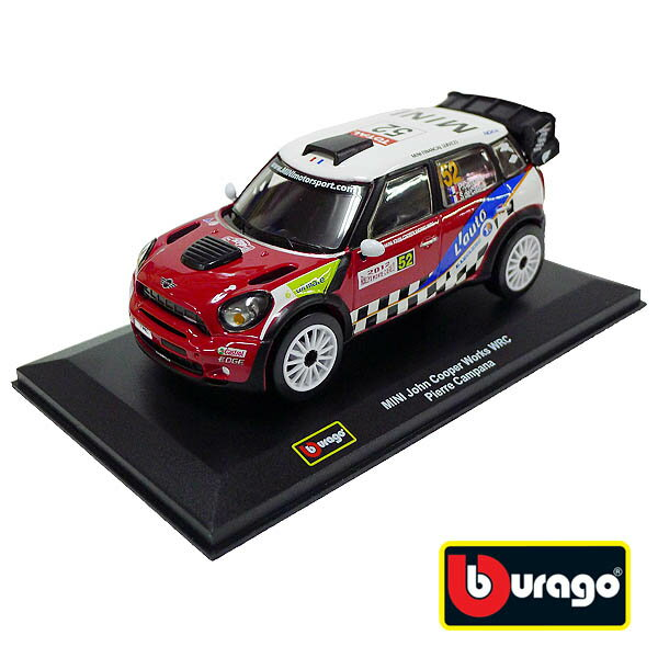 【Bburago 合金車】1:32 Mini Cooper Works WRC Pierre Campana