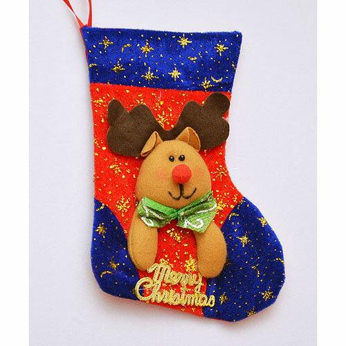 ~派對 服  道具~聖誕節裝飾~9吋~聖誕襪吊飾 BT~5369