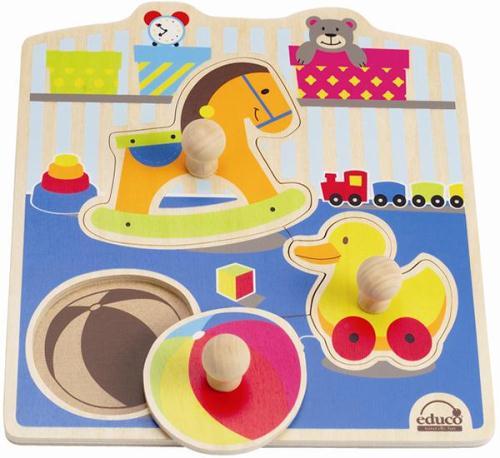【educo】可愛玩具木拼圖 743761