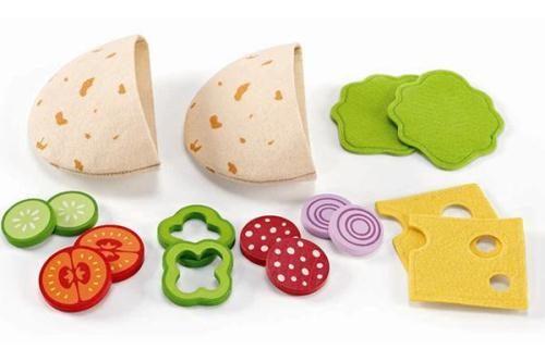【德國 HAPE 愛傑卡】educo 角色扮演廚房系列-美味 pita 袋餅 861510