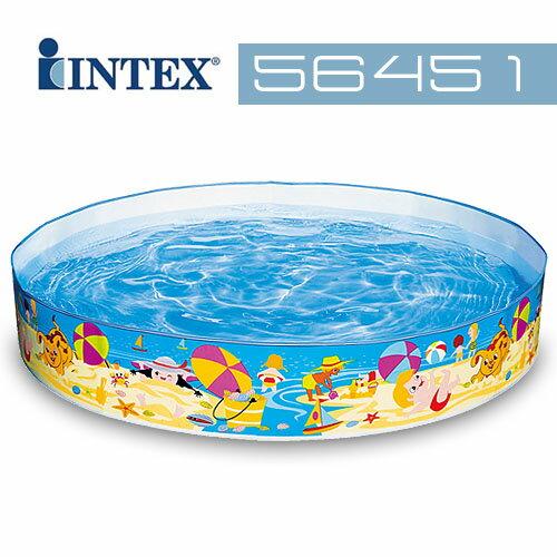 【INTEX】海濱假日免充氣水池 (56451)