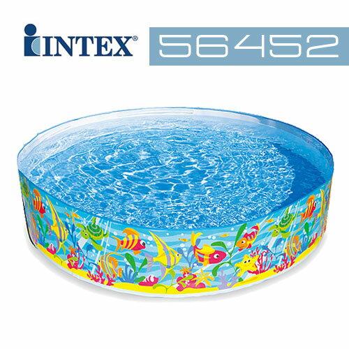 【INTEX】免充氣海洋圖案泳池 56452