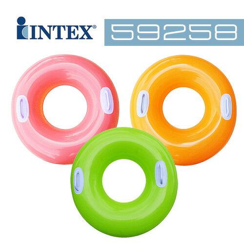 【INTEX】30吋成人把手泳圈 隨機出貨 (59258)