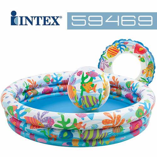 【美國 INTEX】歡樂充氣泳池組 (款式隨機) 59469