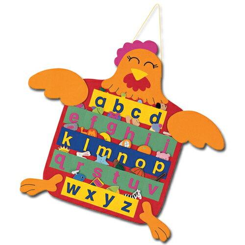 【 KINGDAM 】小凱撒布書系列 -母雞ABC(小寫)掛圖