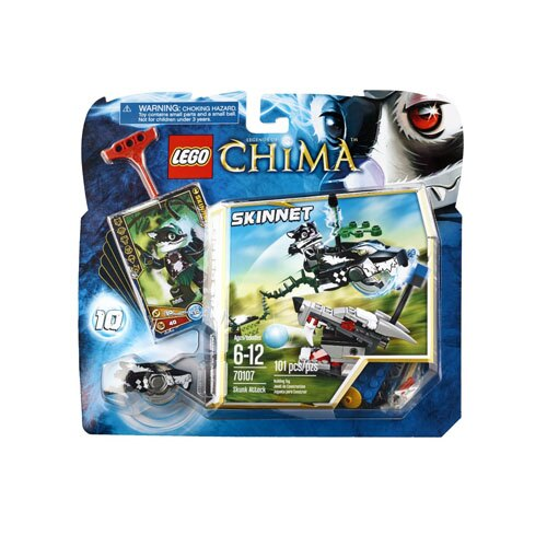 【LEGO 樂高積木】Chima 神獸傳奇系列 - 臭鼬攻擊 LT-70107