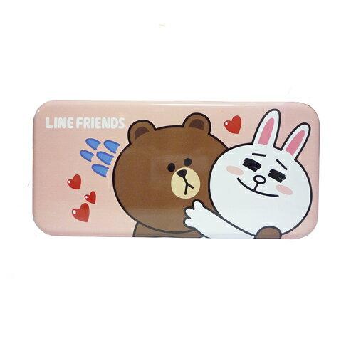 【LINE FRIENDS】大雙層鐵筆盒 KRT-899078B