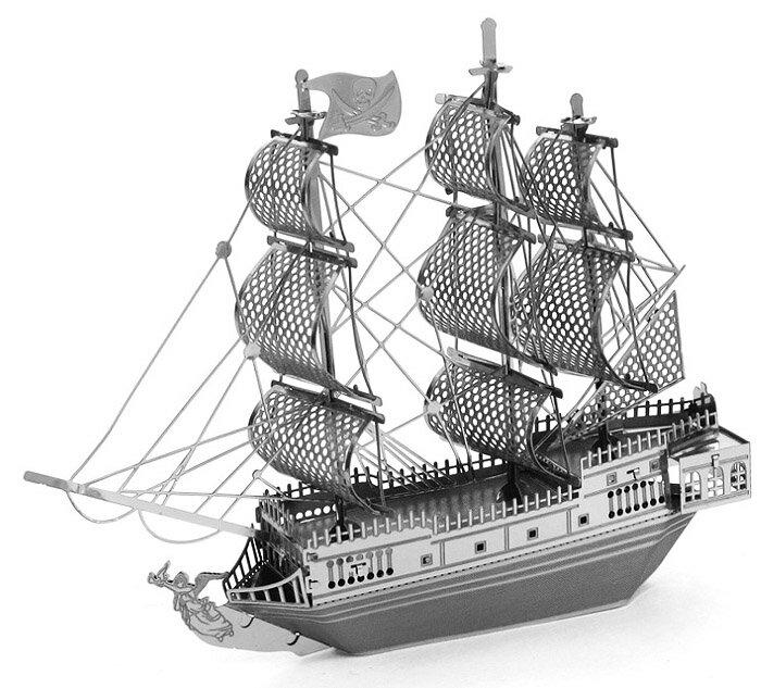 【Metallic nano puzzle 金屬拼圖】TMN-11 黑珍珠號海盜船