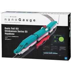 【Nanoblock 迷你積木】nGS_002 nanoGauge 基本套組 E5系新幹線 隼鳥號