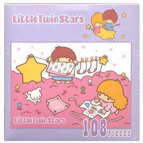 ~P2 拼圖~Little Twin Stars 拼圖-曬衣篇  108片  SS0614