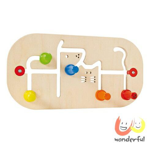 【Selecta 木製遊戲玩具】彩色迷你木製牆上掛衣架 BCST0062