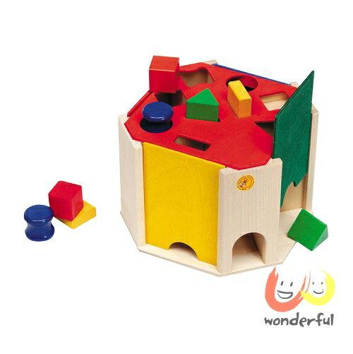 【Selecta 木製遊戲玩具】形狀配對百寶木箱 BCST0069