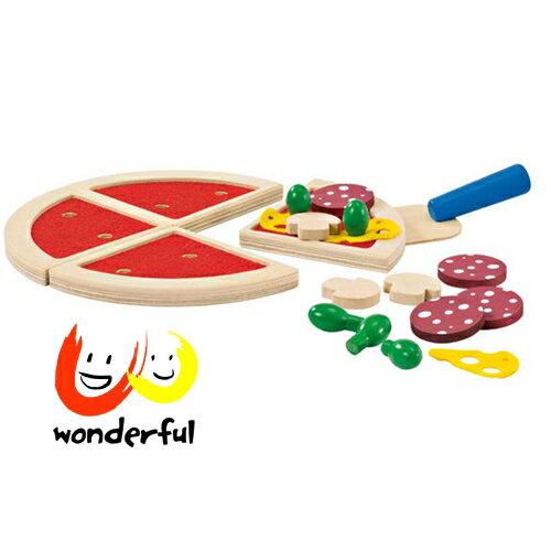 【Selecta 木製遊戲玩具】盒裝木製披薩組(附Pizza鏟) BCST0073