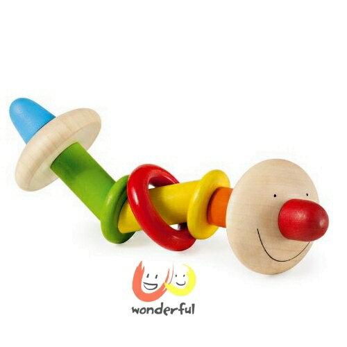 【Selecta 木製遊戲玩具】彩色抓握小超人 BCST1002