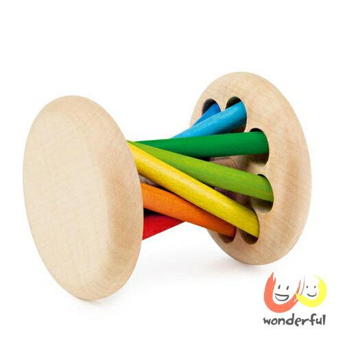 【Selecta 木製遊戲玩具】七彩鈴噹滾輪 BCST1003