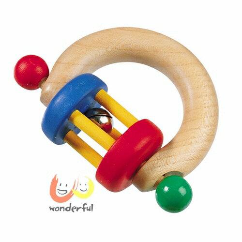 【Selecta 木製遊戲玩具】半月抓握轉轉鈴 BCST1004