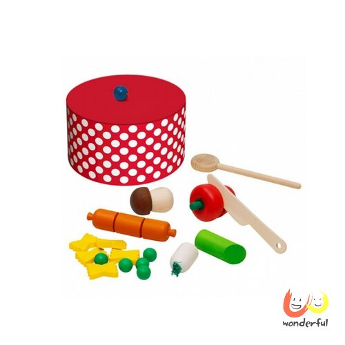 ~Selecta 木製遊戲玩具~木製蔬菜濃湯遊戲組 BCST0113
