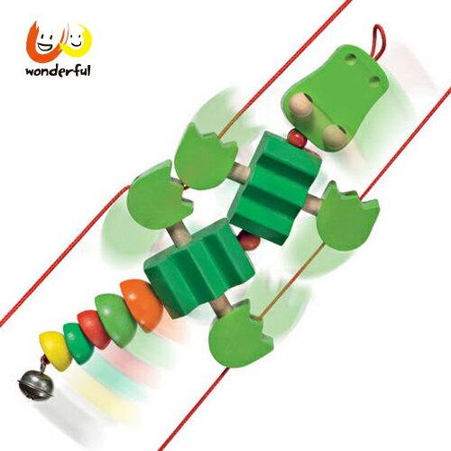 【Selecta 木製遊戲玩具】扭扭鱷魚爬爬樂 BCST0122