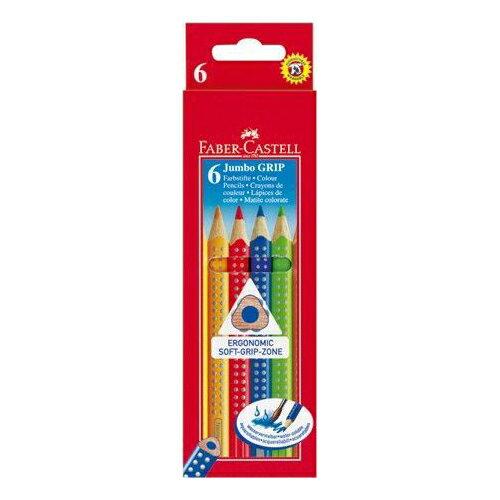 【Faber-Castell 輝柏繪畫系列】Jumbo水彩色鉛筆-6色 110906