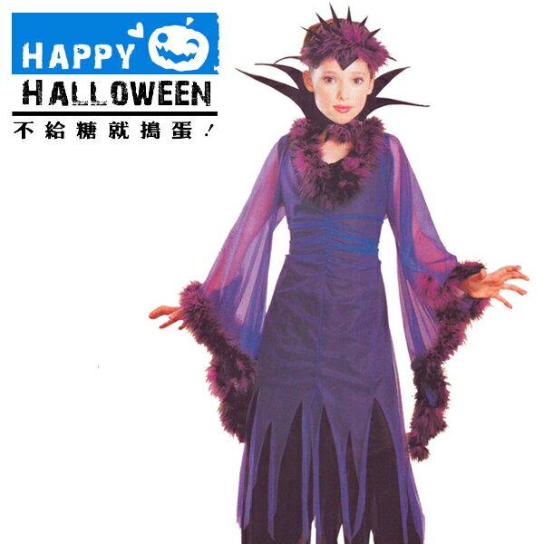 【派對服裝-藍標】小紫巫婆裝 F0193399