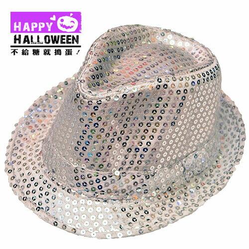 【派對服裝-紫標】銀色傑克森亮片帽 JD-2251( 派對服裝系列滿額599元加送南瓜糖袋1個 )