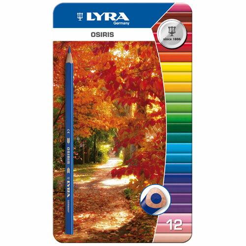 【德國 LYRA 彩繪系列】學用三角色鉛筆(12色鐵盒裝) 2521133