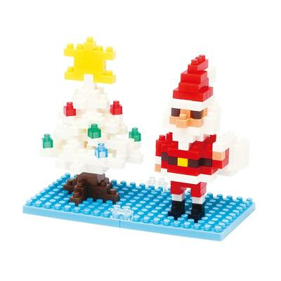 【Nanoblock 迷你積木】聖誕老人與雪花聖誕樹 NBC-099