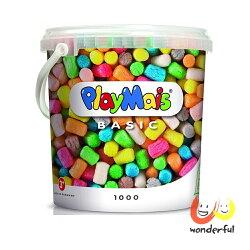 【德國 Playmais】玩玉米創意黏土超值桶 BCPL0003(1000顆裝)