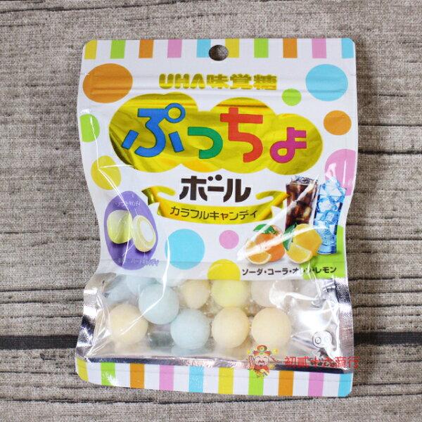 【0216零食會社】日本糖果UHA味覺糖_繽紛綜合球糖60g