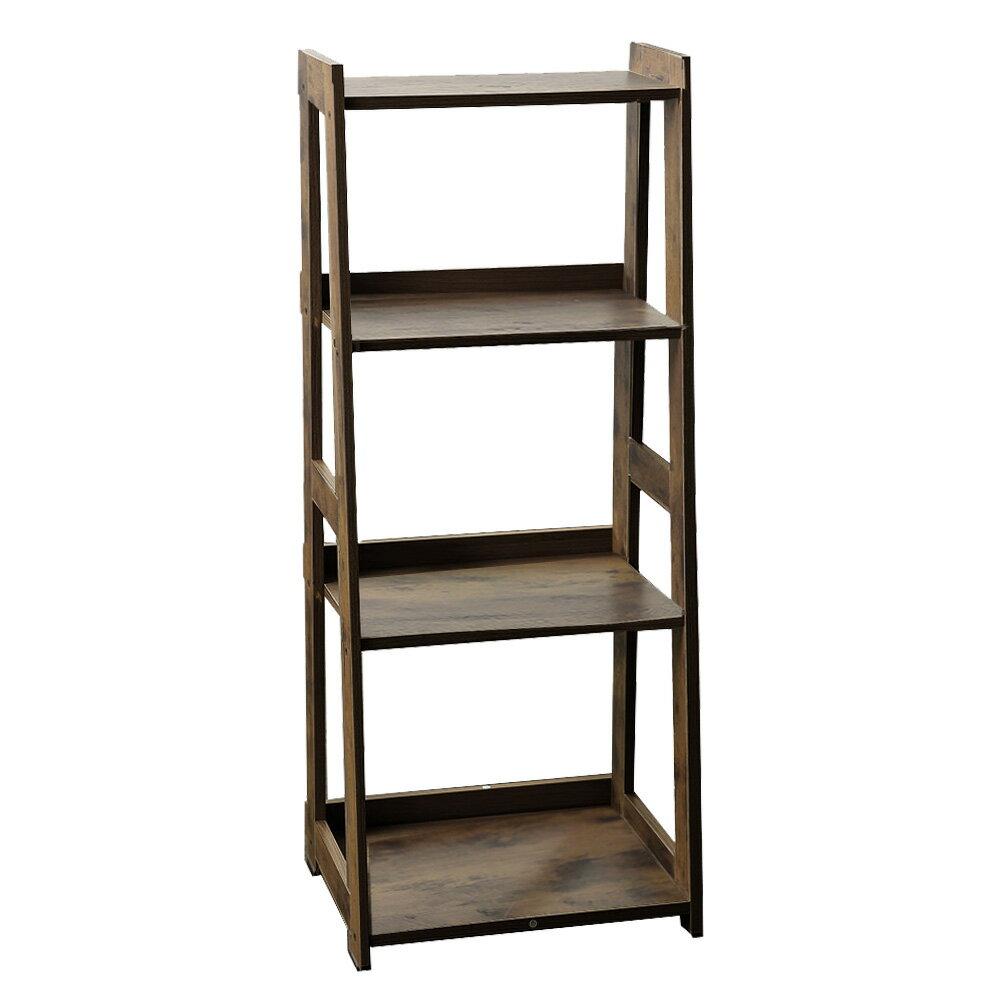 四層收納架 層架 書架 層櫃 A字收納-窄  /  寬款 日式木質收納層架 層架斜面架 樂嫚妮【CC-AJS1112】 4