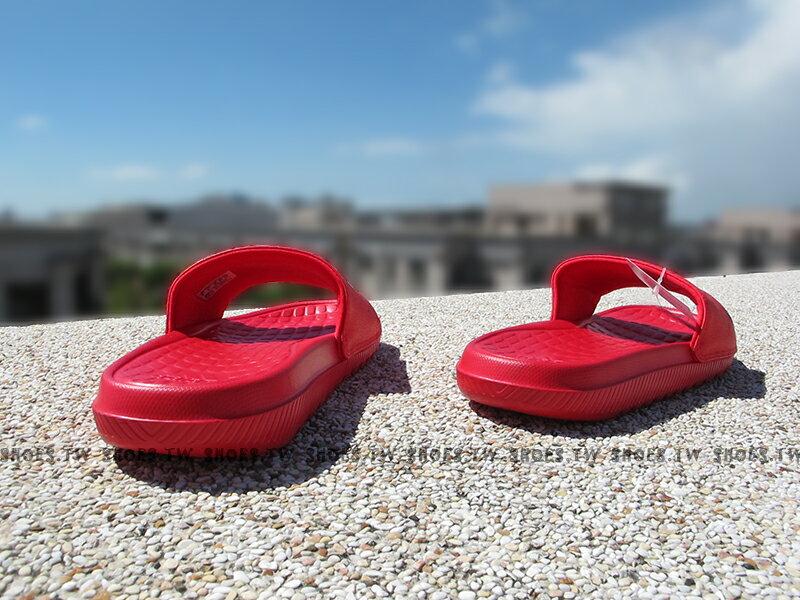Shoestw【S80407】ADIDAS VOLOOMIX SLIDE 拖鞋 紅黑 大LOGO 男生尺寸 2