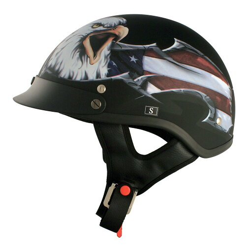 VCAN V531 Motorcycle Cruiser Half Helmet With Graphic (USA Eagle Flat Black) 2e92c4a977a67fe3e6c17b53efa99c9d