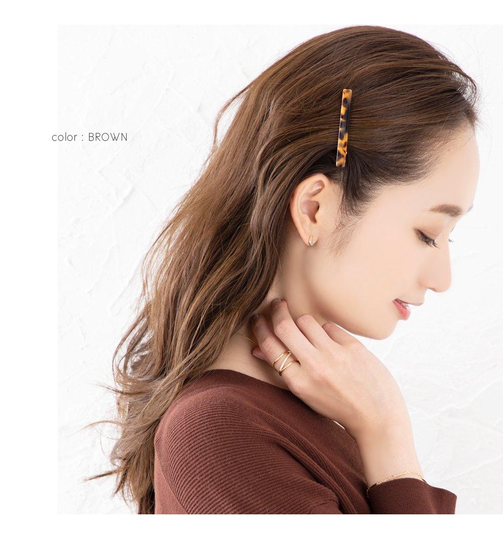 日本CREAM DOT  /  ヘアクリップ 前髪 小さめ ヘアアクセサリー 大人 上品 エレガント ニュアンスカラーシンプル フェミニン ブラウン ベージュ ミックスカラー  /  a03536  /  日本必買 日本樂天直送(990) 6