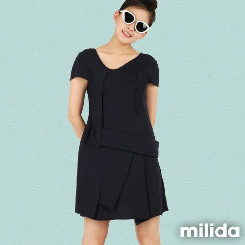 【Milida,全店七折免運】-夏季尾聲-素色款-厚棉立體造型設計 7