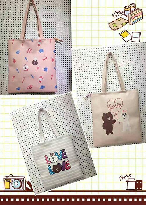 手提包 人氣卡通Hello Kitty皮革手提袋(大) 課輔袋 購物袋【包包阿者西】