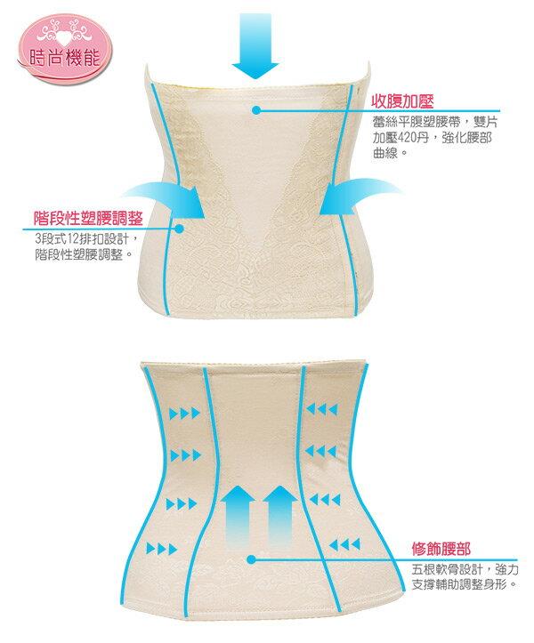 【Emon】420丹 時尚機能平腹纖腰束馬甲 (黑) 3