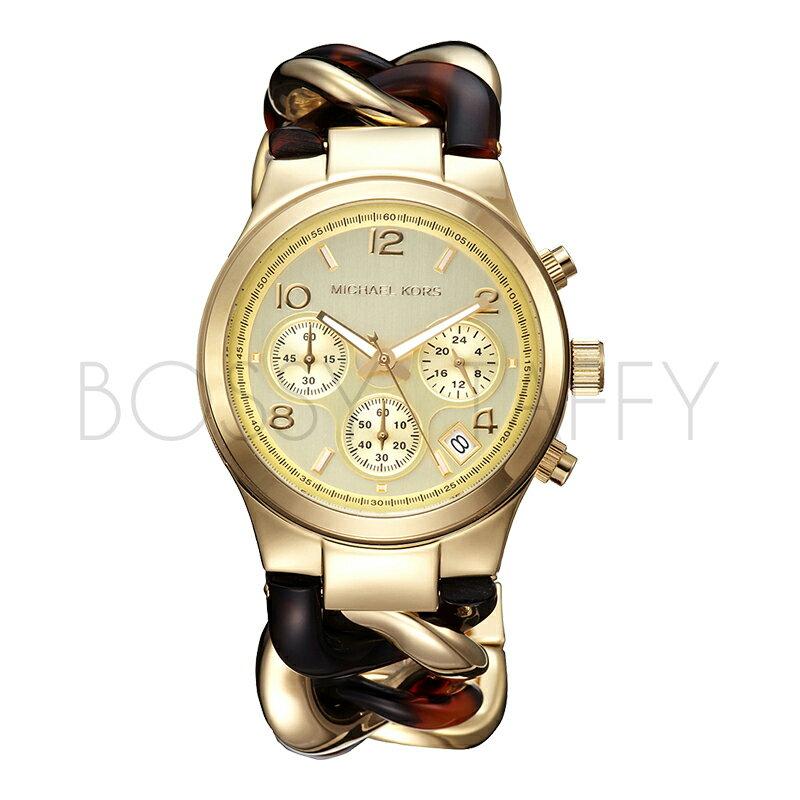 MK4222 MICHAEL KORS 時尚金色鋼帶鎖鍊女錶