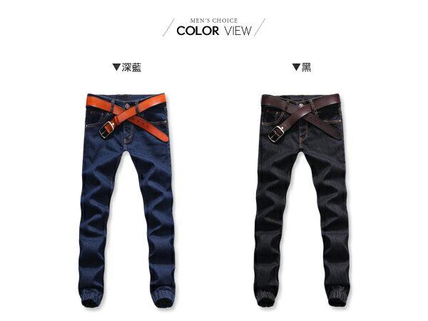 ☆BOY-2☆【NZ95001】韓簡約休閒牛仔縮口褲 2