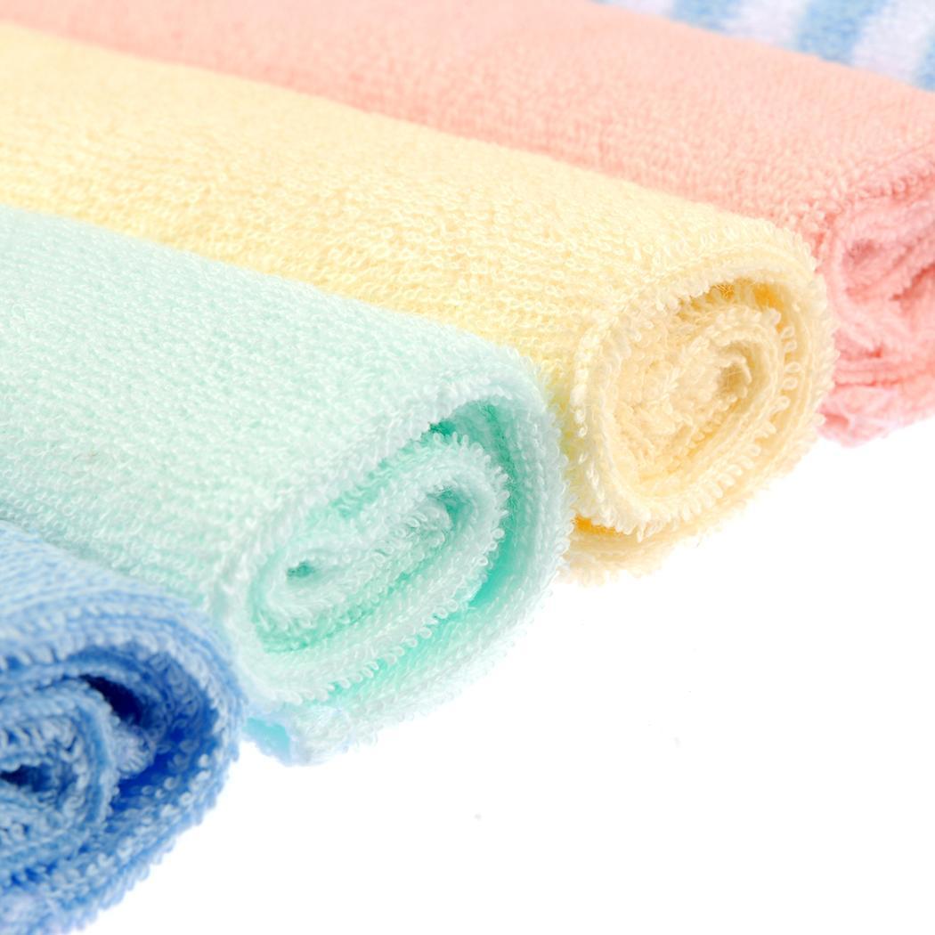8PCS Baby Wash Handkerchief Multicolor Feeding Wipe Cloth Towel 3