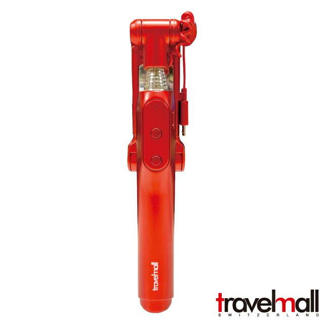 Travelmall 藍芽自拍棒+三段補光燈#二色可選喔~ 旅行用/自拍用/美照必備件