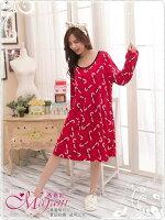 [瑪嘉妮Majani]中大尺碼睡衣-棉質居家服 睡衣 舒適好穿 寬鬆 有特大碼 特價299元 lp-17 0